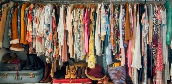 Something like my old wardrobe - eclectic (mostly bohemian), print-heavy, every color in the rainbow. (Image credit: apartmenttherapy.com)